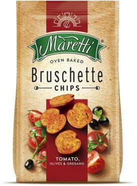 Брускетты Maretti Tomato, olives & oregano 70 гр., пакет, 15 шт.