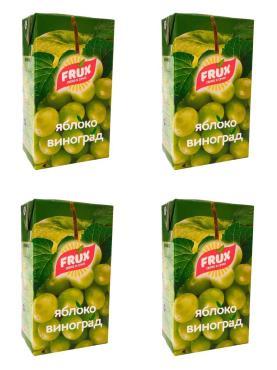 Сокосодержащий напиток яблоко-виноград FRUX, 1000 гр., тетра-пак