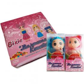 Драже Bixie, мармеладное + Игровая Кукла, 8 гр., пластиковая упаковка