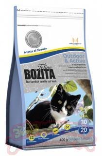 Корм Bozita OutdoorAND Active сухой для активных кошек с лосем 400 гр., ПЭТ