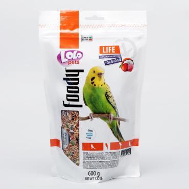 Корм LOLO для волнистых попугаев полнорационный, 600 гр., дой-пак