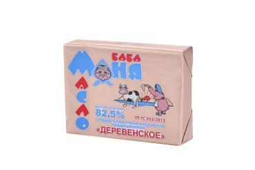 Масло Баба Маня сладко-сливочное деревенское 82,5%