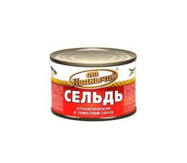 Сельдь От Иваныча Атлантическая в томатном соусе