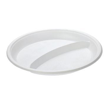 Тарелка двухсекционная 10 шт. Smart , пластиковый пакет