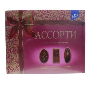 Конфеты Konti Ассорти темный шоколад 235 г.