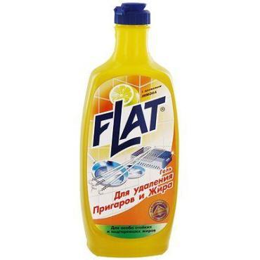 Гель Flat для удаления пригаров и жира с ароматом лимона