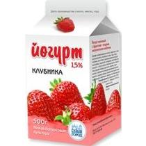 Йогурт Белый город Клубника 1,5% питьевой