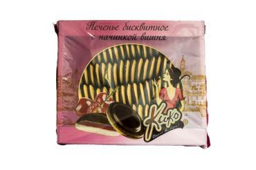 Печенье Кинельский кондитер КиКо Бисквитное глазированное с начинкой Вишня