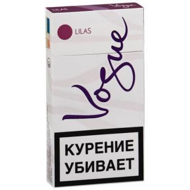 Сигареты с фильтром Vogue Lilas, картонная пачка