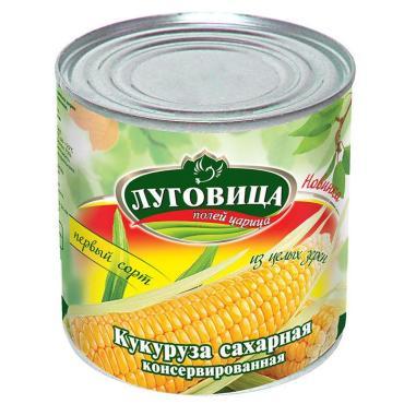 Кукуруза Луговица Сахарная консервированная