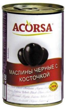 Маслины Acorsa черные без косточки