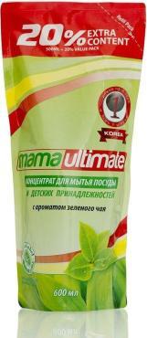 Средство для мытья посуды Mama ultimate С ароматом зеленого чая