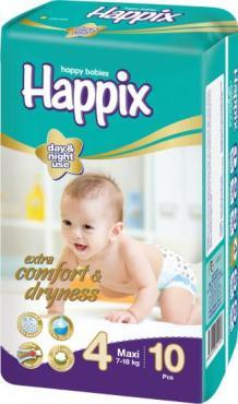Подгузники Happix детские №4, 10 шт