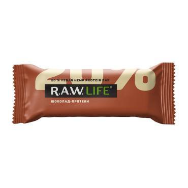 Батончик Rawlife орехово-фруктовый клубника-Протеин