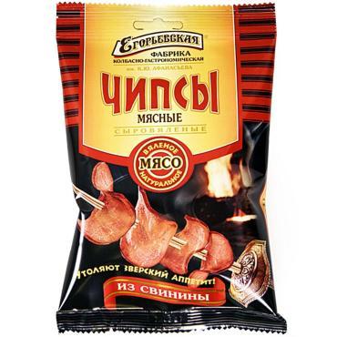 Чипсы Егорьевская Фабрика мясные из свинины