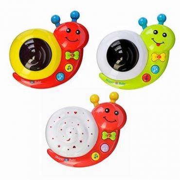 МЕШОК ПОДАРКОВ Игрушка электронная Улитка, свет, звук, пластик, 3хАА,13,5х12,5х6см, 3 дизайна