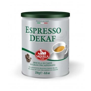 Кофе в зернах SAQUELLA без кофеина Espresso Dekaf