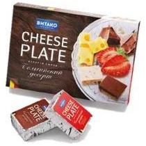 Сыр плавленый Витако Cheese Plate Бельгийский десерт 30% Шоколад-Клубника