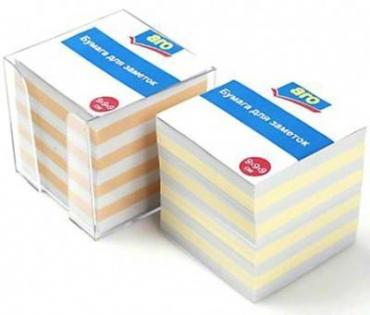 Бумага для заметок Aro блок в пластиковом боксе 9 х 9 х 9 см