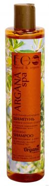 Шампунь для волос Восстанавливающий, Глубокое питание и Блеск, для поврежденных и окрашенных волос, EcoLab, 350 мл., Пластиковая бутылка
