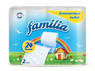 Туалетная бумага Familia Радуга двухслойная