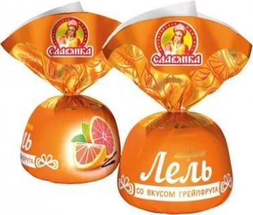 Конфеты Славянка Лель желейные глазированные со вкусом грейпфрута