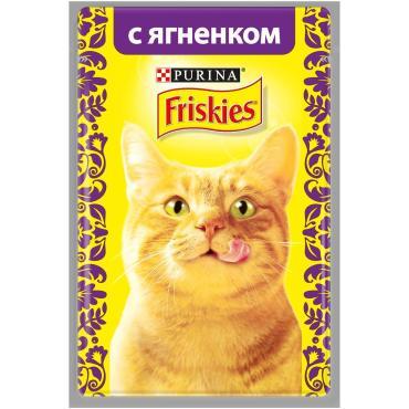 Корм влажный для кошек с ягненком Friskies 85 гр. Дой-пак