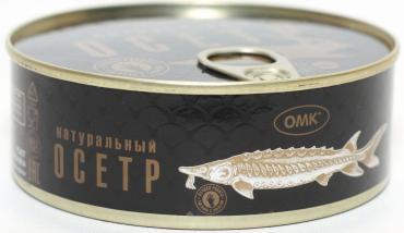 Осетр натуральный, ОМК, 245 гр., ж/б