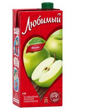 Нектар яблочный , Любимый, 950 мл, тетра-пак
