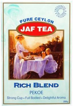 Чай JAF TEA Rich blend чёрный листовой, сорт РЕКОЕ 200 гр.