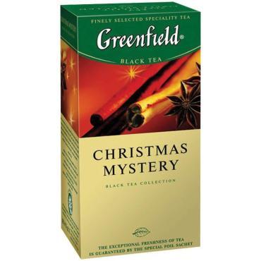 Чай пакетированный Greenfield Christmas Mystery черный с корицей 25 пак.
