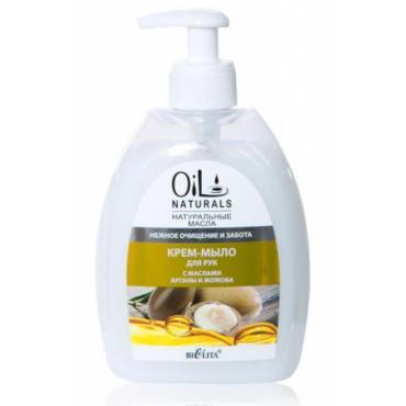 Крем-мыло для рук Belita Oil Naturals с маслами Арганы и Жожоба нежное