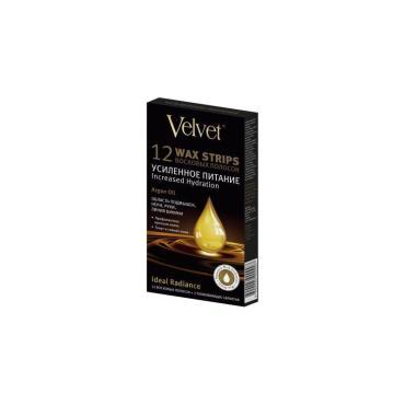 Восковые полоски для тела Velvet Argan Oil Усиленное питание 12 шт
