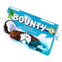 Мороженое молочное Bounty кокос в шоколадной глазури 235 г