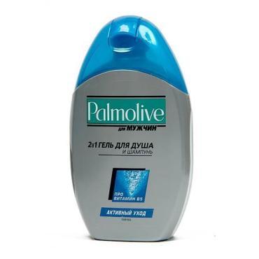 Гель для душа Palmolive для мужчин и шампунь активный день 2в1