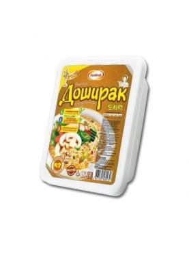 Лапша быстрого приготовления Доширак со вкусом грибов, пласт.контейнер 90 гр. (24 шт. в упаковке)
