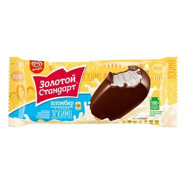 Мороженое Золотой стандарт эскимо в глазури 64 гр