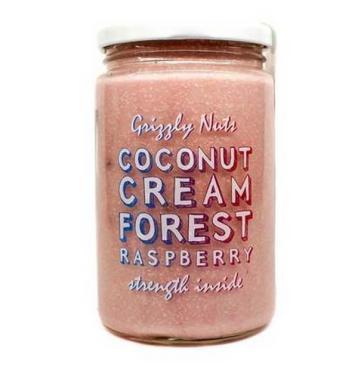 Кокосовая паста малиново-медовая Forest Raspberry,  Grizzly Nuts, 360 г., стекло