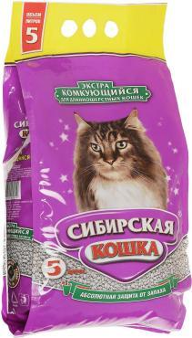 Наполнитель для кошачьего туалета Сибирская кошка Экстра для длинношерстных кошек