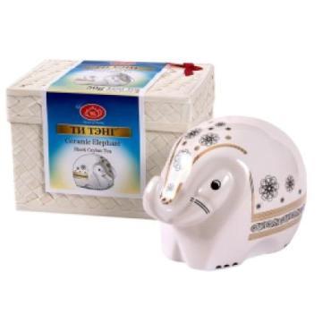 Чай листовой черный Ти Тэнг Слон фарфоровый, 50 гр., подарочная упаковка