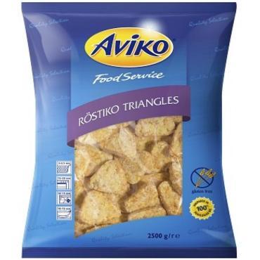 Треугольники из тертого картофеля Авико