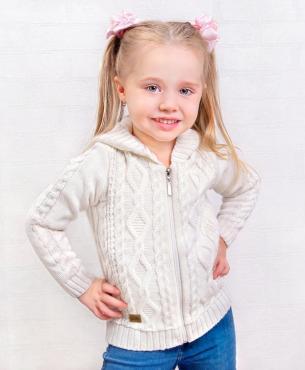 Жакет для девочки,34-134, коричневый, Golden Kids, Адель, Россия, пластиковый пакет