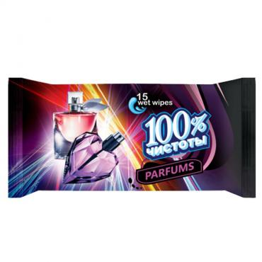 Влажные салфетки 100% чистоты Парфюм 15шт.
