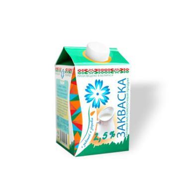 Продукт кисломолочный закваска Витебское молоко 2,5%