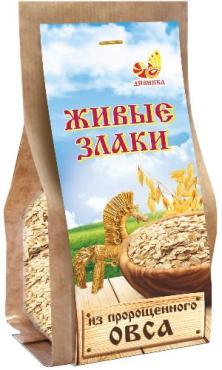 Хлопья из пророщенного овса Дивинка Живые злаки, 300 гр., бумажная упаковка