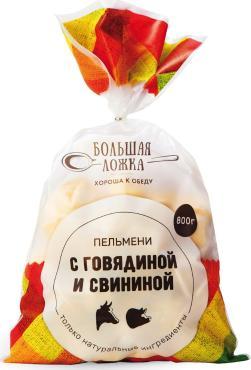 Пельмени Большая ложка говядина-свинина, Давняя Традиция, 800 гр.