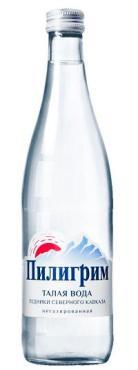 Вода минеральная питьевая столовая Талая вода Пилигрим , 500 мл., стекло