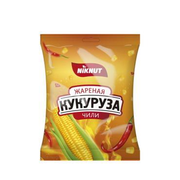 Кукуруза жареная Nik Nut Чили, 100 гр., флоу-пак