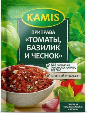 Приправа томаты, базилик, чеснок, Kamis, 15 гр., флоу-пак