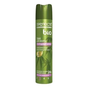 Лак для волос Прелесть Био природный блеск №3 сильная фиксация